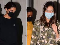 Deepika Padukone and Ananya Panday spotted at Gateway of India post-shoot