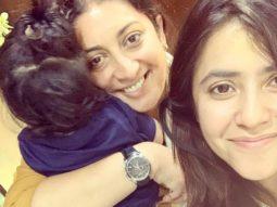 "Ekta Kapoor says, ""My bestie please kick Corona out"", to Smriti Irani"