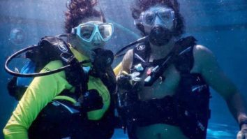 Farhan Akhtar asks Shibani Dandekar to breathe with him, see their scuba diving pictures from Maldives vacay