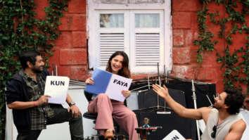 Kun Faya Kun: Harshvardhan Rane, Sanjeeda Shaikh & Kushan Nandy paint a happy picture on the sets of the film