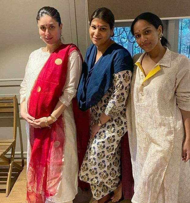Mom-to-be Kareena Kapoor Khan looks beautiful in ethnic dress, enjoys pre-Diwali get-together with Masaba Gupta, mom Babita