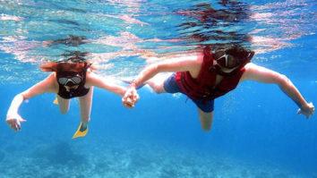 PICTURES Kajal Aggarwal and Gautam Kitchlu go snorkeling on their honeymoon
