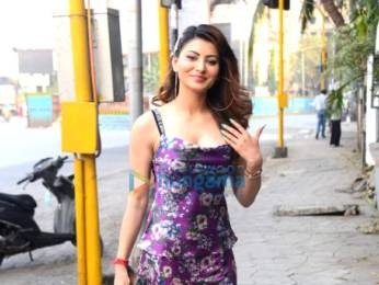 Photos: Urvashi Rautela snapped at Coffee By DiBella, Juhu