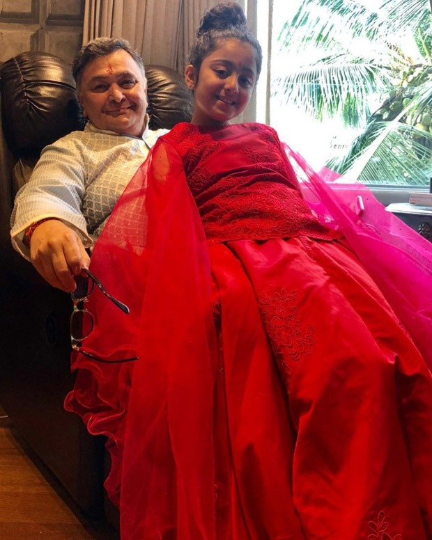 Riddhima Kapoor Sahni shares a photo of Rishi Kapoor and her daughter Samara, misses her father this Diwali