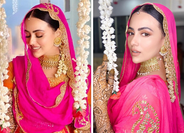 Sana Khan Smiles Ear-to-ear in Pics from Her Mehendi Ceremony