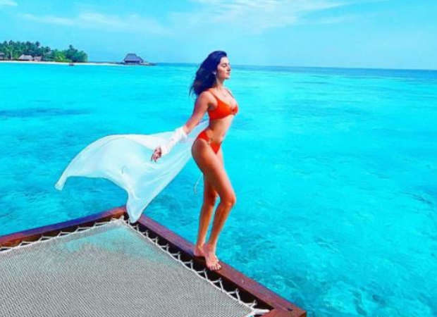 Tara Sutaria poses in a red hot bikini as she celebrates her birthday in Maldives.