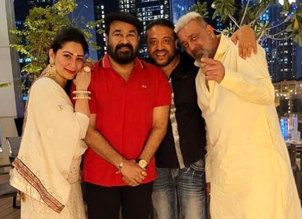 Mohanlal celebrates Diwali with Sanjay Dutt and family in Dubai; pics go viral