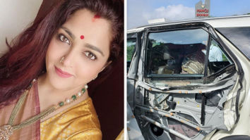 Khushbu Sundar met with an accident after a tanker hit her car; escapes unhurt