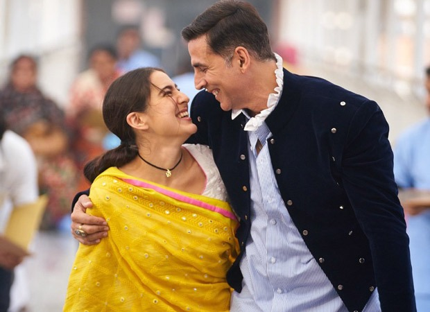 Akshay Kumar is all smiles in this candid still with Sara Ali Khan from Atrangi Re as he begins shooting