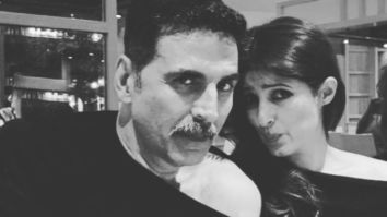 Twinkle Khanna says Akshay Kumar makes her heart hum a happy song as they twin in a cold shoulder top
