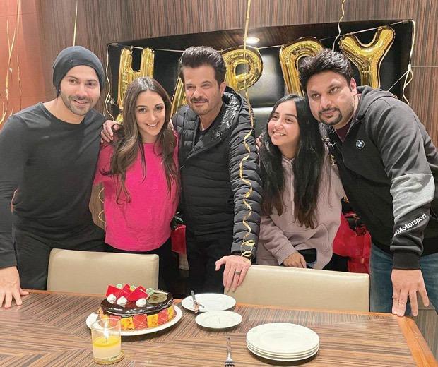 Anil Kapoor celebrates his 64th birthday with Jug Jugg Jeeyo cast Varun Dhawan, Kiara Advani, Prajakta Koli, Raj Mehta