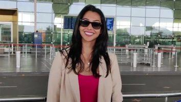 Anupriya Goenka spotted at Airport