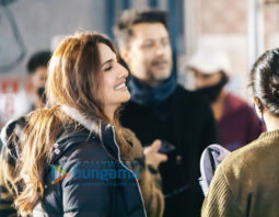 On the sets of the movie Chandigarh Kare Aashiqui