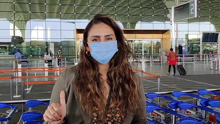 Huma Qureshi spotted at Airport