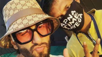 John Cena posts a picture of Ranveer Singh with a fan wearing 'Apna Time Aayega' mask