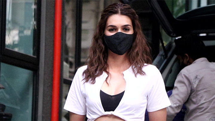 Kriti Sanon snapped arriving at Maddock films office Khar