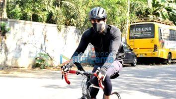 Photos: Ranbir Kapoor snapped during cycle ride