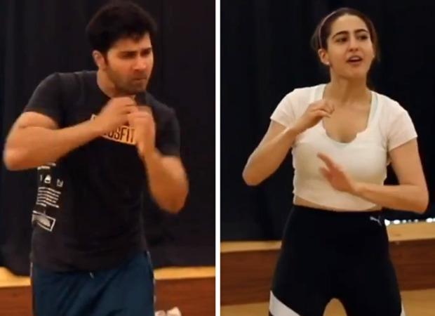 This unseen video of Varun Dhawan and Sara Ali Khan rehearsing for 'Husn Hai Suhana' is too cute to miss