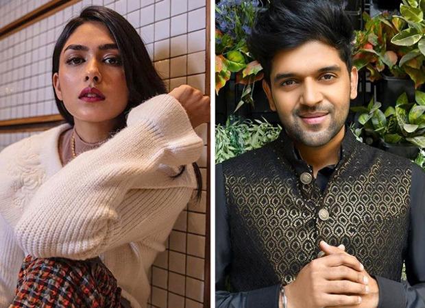 मृनाल ठाकुर और गुरु रंधावा ने एक संगीत वीडियो के लिए टीम बनाई