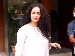 Kangana Ranaut spotted at her office Juhu