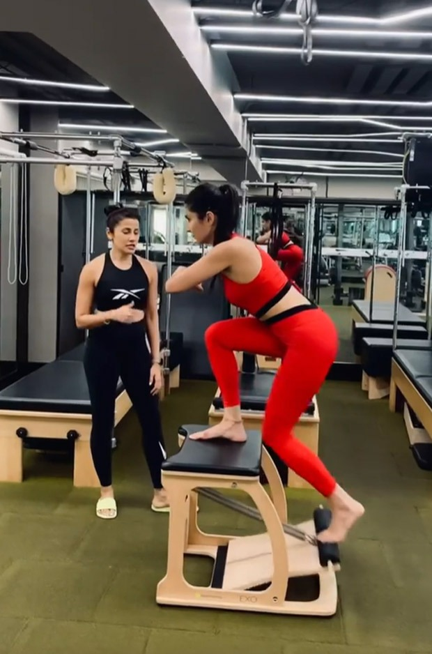 Katrina Kaif sweats it out in the gym during her pilates session, watch video