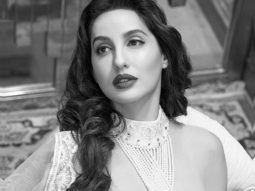 Nora Fatehi channels old school Bollywood charm donning Abu Jani and Sandeep Khosla attire