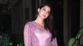 Nora Fatehi spotted at Ramesh Taurani's house Bandra
