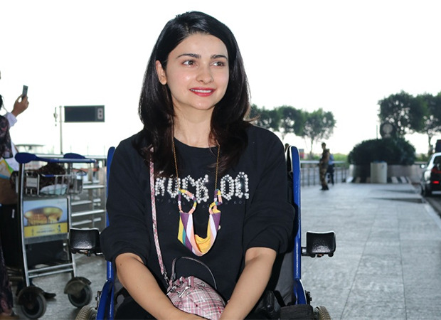 PICTURES: Here's the reason why Prachi Desai was spotted in a wheelchair at the airport
