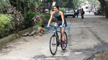 Photos: Aahana Kumra snapped cycling