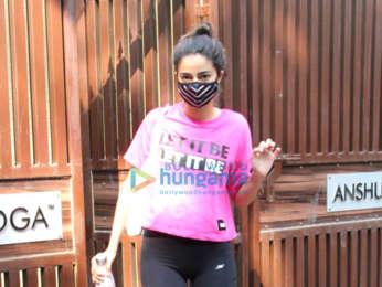 Photos: Ananya Panday spotted at yoga class in Bandra