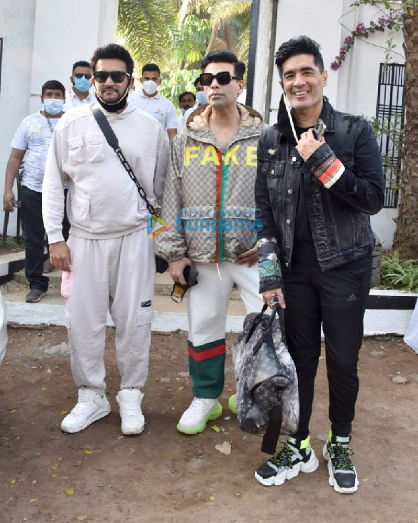 Photos: Karan Johar, Manish Malhotra, Shashank Khaitan spotted leaving the Varun Dhawan's wedding venue