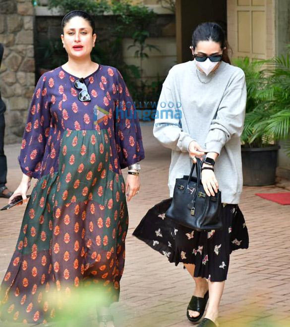 Photos Kareena Kapoor Khan and Karisma Kapoor spotted in Bandra (1)