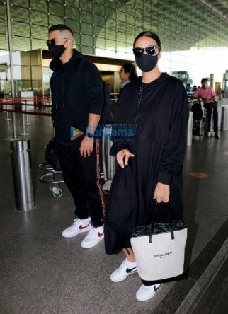 Photos: Neha Dhupia, Angad Bedi and Sharad Kelkar snapped at the airport
