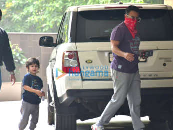 Photos: Saif Ali Khan and Taimur Ali Khan spotted at the gym