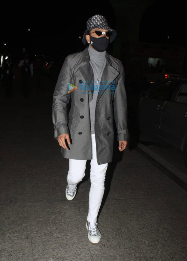 Ranveer Singh steps up his style game with a classy winter look at the airport