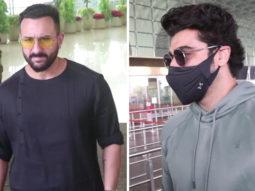 Saif Ali Khan & Arjun Kapoor leave for the shoot of movie Bhoot Police