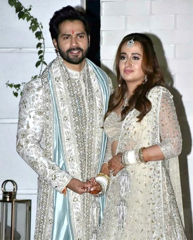 Varun Dhawan - Natasha Dalal Wedding: How the newlyweds dazzled in their traditional matching attire