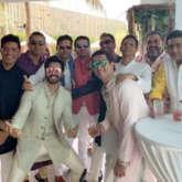 Varun Dhawan strikes a pose with his groomsmen ahead of his wedding with Natasha Dalal