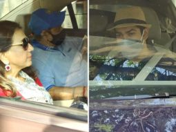 Varun Dhawan's parents David Dhawan, Karuna Dhawan, brother Rohit Dhawan, and family leave for Alibaug to kick off wedding festivities