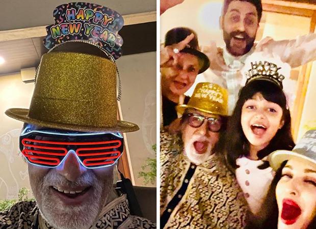 Amitabh Bachchan, Jaya Bachchan, Aishwarya Rai and Abhishek Bachchans fun New Year Party is all about funky glasses and party hats; see pics - Bollywood Hungama