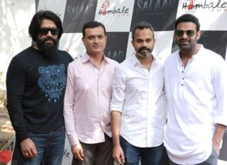 Salaar: Prabhas and Yash strike a pose at the grand launch event