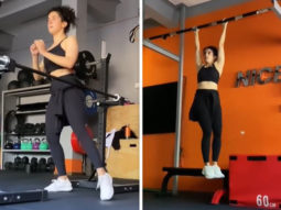Sanya Malhotra combines her dance skills with her workout in the most fun way, watch video