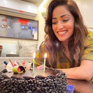Yami Gautam celebrates wrap up of Bhoot Police with a chocolate cake