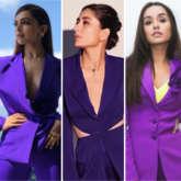 Deepika Padukone, Kareena Kapoor Khan, Rhea Chakraborty or Shraddha Kapoor – who slayed the sharp purple pantsuit?