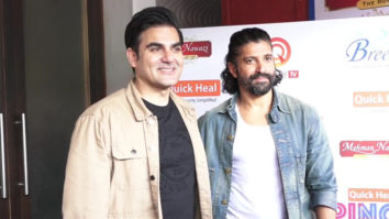 Farhan Akhtar and Arbaaz Khan spotted in Juhu