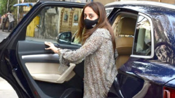 Natasha Dala Dhawan spotted outside her residence