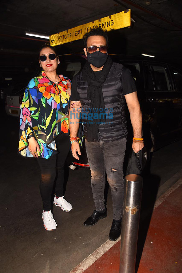 Photos: Govinda and Sunita Ahuja snapped at the airport