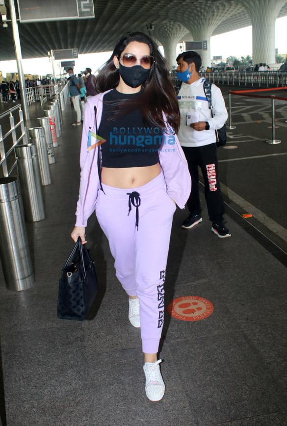 Photos Nora Fatehi and Malaika Arora snapped at the airport (1)
