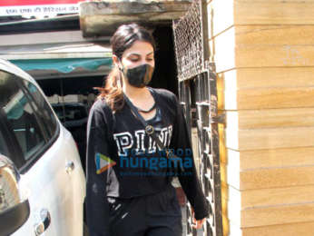 Photos: Rhea Chakraborty spotted at a gym in Bandra