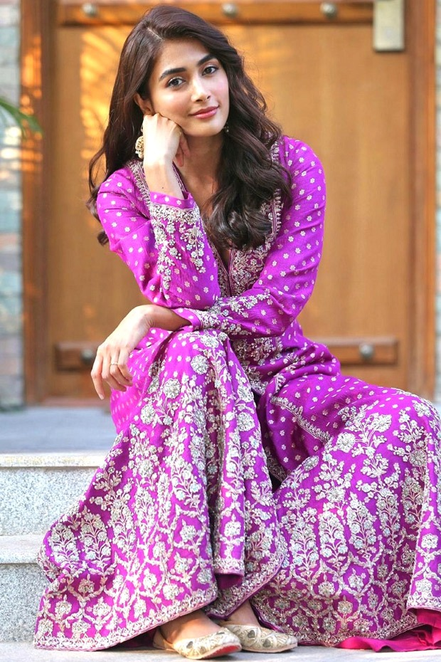Pooja Hegde glows in Anita Dongre embroidered traditional dress